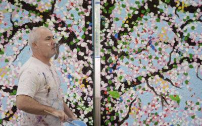 """Fondation Cartier pour l'art contemporain: Damien Hirst """"Cherry Blossoms"""""""